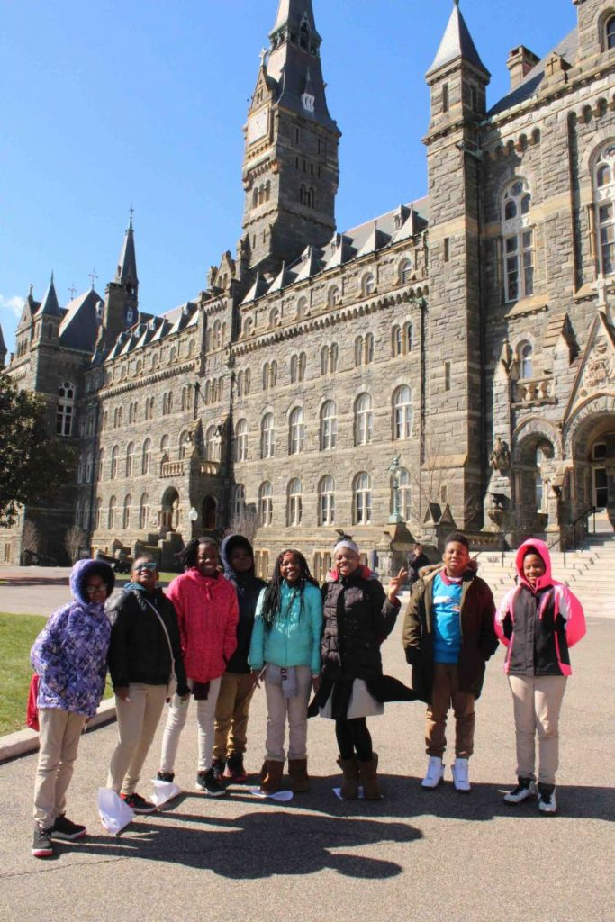 k2c students in front of Healy Hall