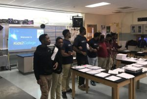 """k2c facilitators engaged in the activity """"link"""" with students"""